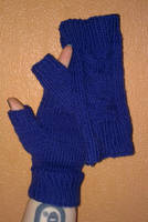Fingerless Owl mittens by KnitLizzy