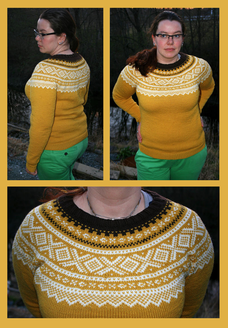 Retro yellow Marius fair-isle sweater - COMMISSION by KnitLizzy on ...