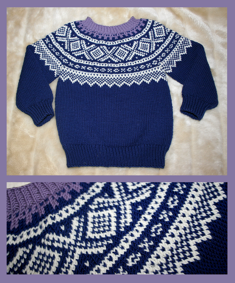 Childs blue Marius fair-isle sweater by KnitLizzy on DeviantArt