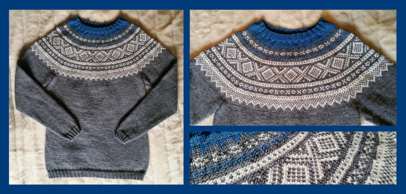 Grey Marius sweater - COMMISSION by KnitLizzy