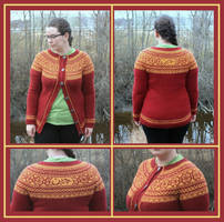 Datlof cardigan - Boevertun kofte with round yoke
