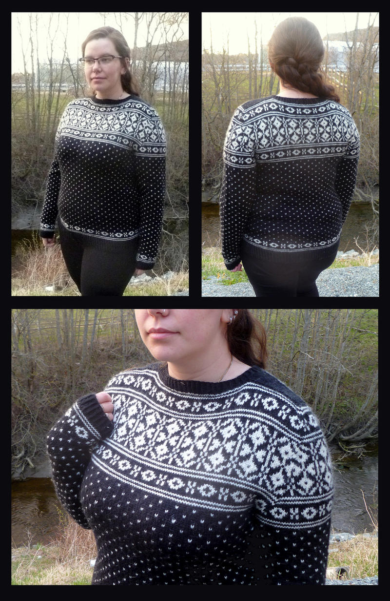 Oppdal traditional fair-isle sweater by KnitLizzy on DeviantArt