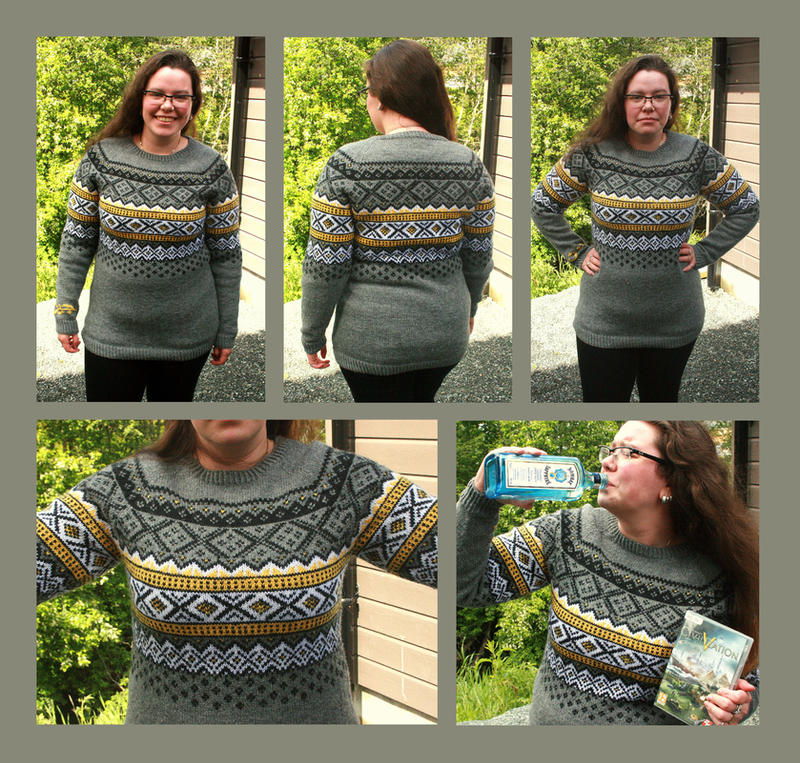 Yogscast Civ V Livestream Fair-isle Sweater by KnitLizzy