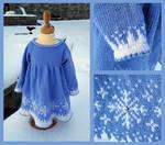 Frozen ice dress by KnitLizzy