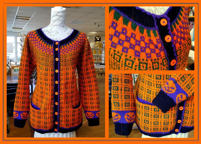 Halloween fair-isle cardigan by KnitLizzy