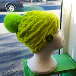 Cabled neon hat by KnitLizzy