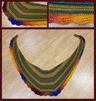 Lovely leaf shawl - autumn