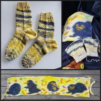 Niffler Grand Central socks + sockblank
