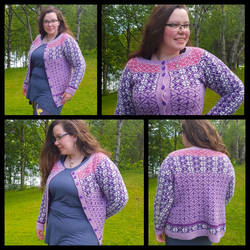 Ventetid - stranded colourwork advent cardigan