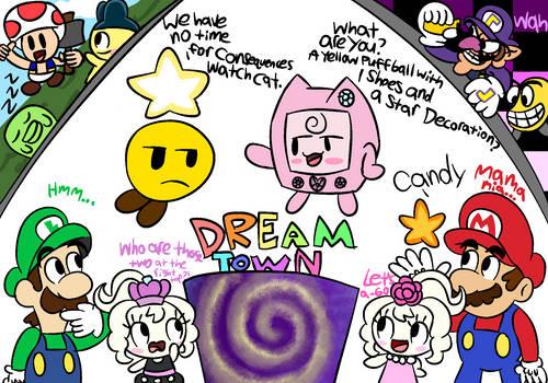 Mario + Luigi: Future DreamTown doodles