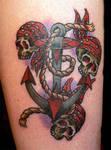 Skulls and Anchor Tattoo
