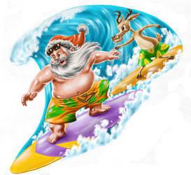 Santa Claus in Hawaii by fernandocarvalho