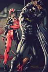 Batman an Harley Quinn by Marcio Abreu