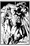 Batman an Harley Quinn by Marcio Abreu. Inks by CB