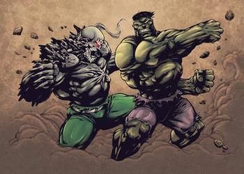 Hulk vs Doomsday by CB-ComicArt