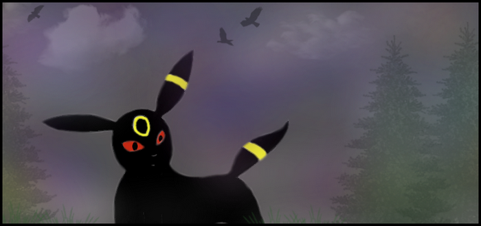 Umbreon at night by annoyingArticuno