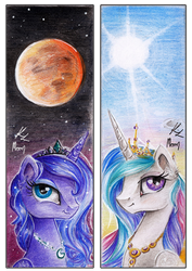 Bookmaks: Canterlot's Princesses by Moonlight-Ki
