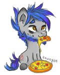 Dimmed pizza by Lailyren