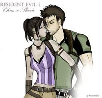 resident evil 5 - ChrisxSheva by FiammahGrace