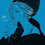 Life Is Strange Chloe Price blue portrait