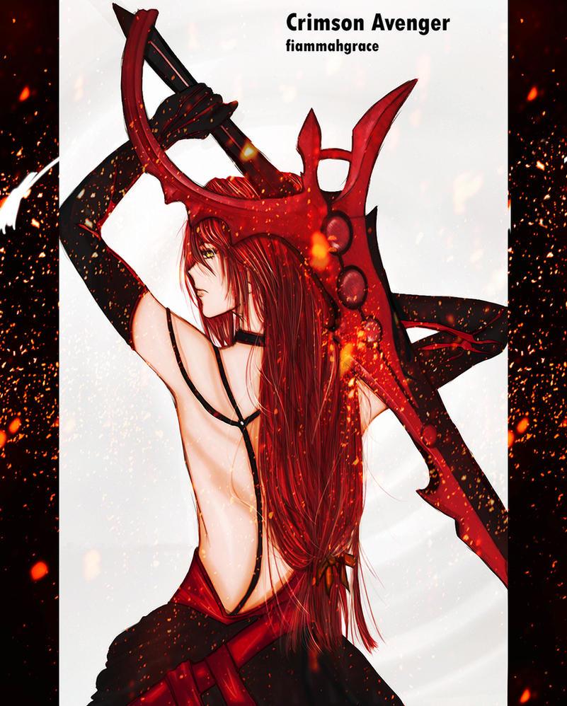 Crimson Avenger ELESIS by FiammahGrace