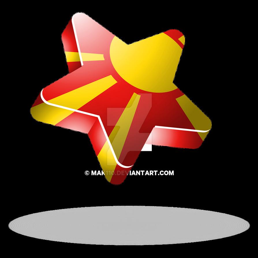 Macedonia flag 3d star by mak110 on deviantart for 3d star net