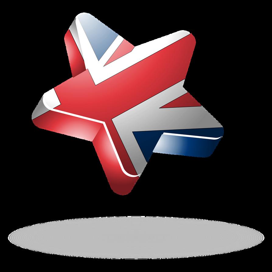 United kingdom 3d star by mak110 on deviantart for 3d star net