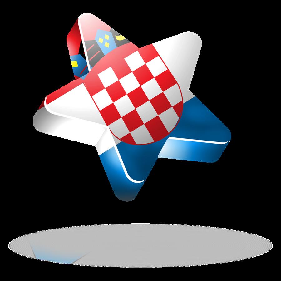 Croatia flag 3d star by mak110 on deviantart for 3d star net