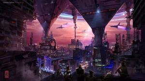 Sci-fi environment concept