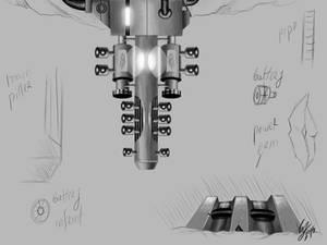 Concept for a mine laser digger