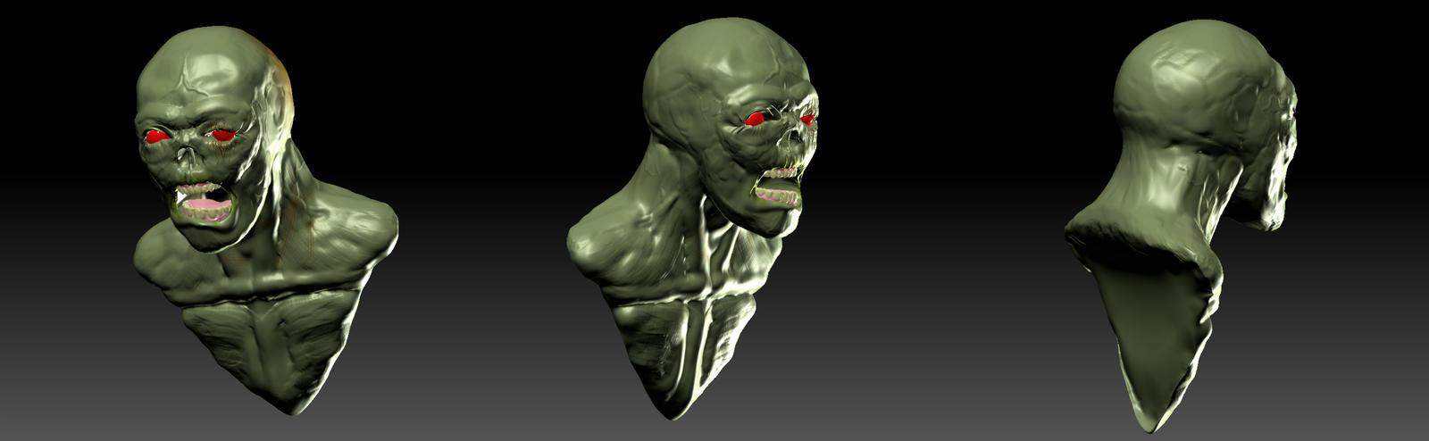 Zombie model - Zbrush