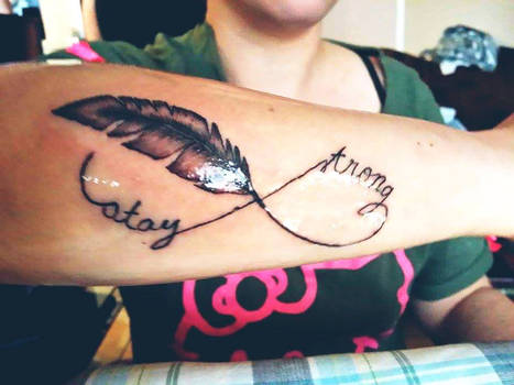 Stay strong feather piece.