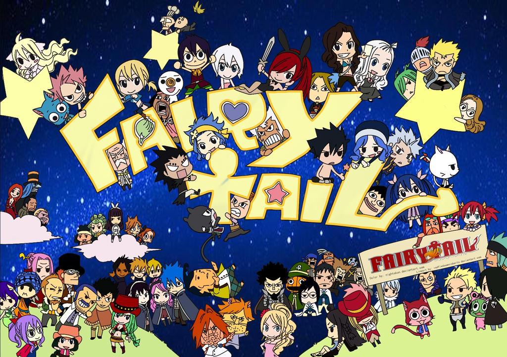 Fairy Tail Chibi Complete by Nightokun on DeviantArt  Fairy Tail Chib...