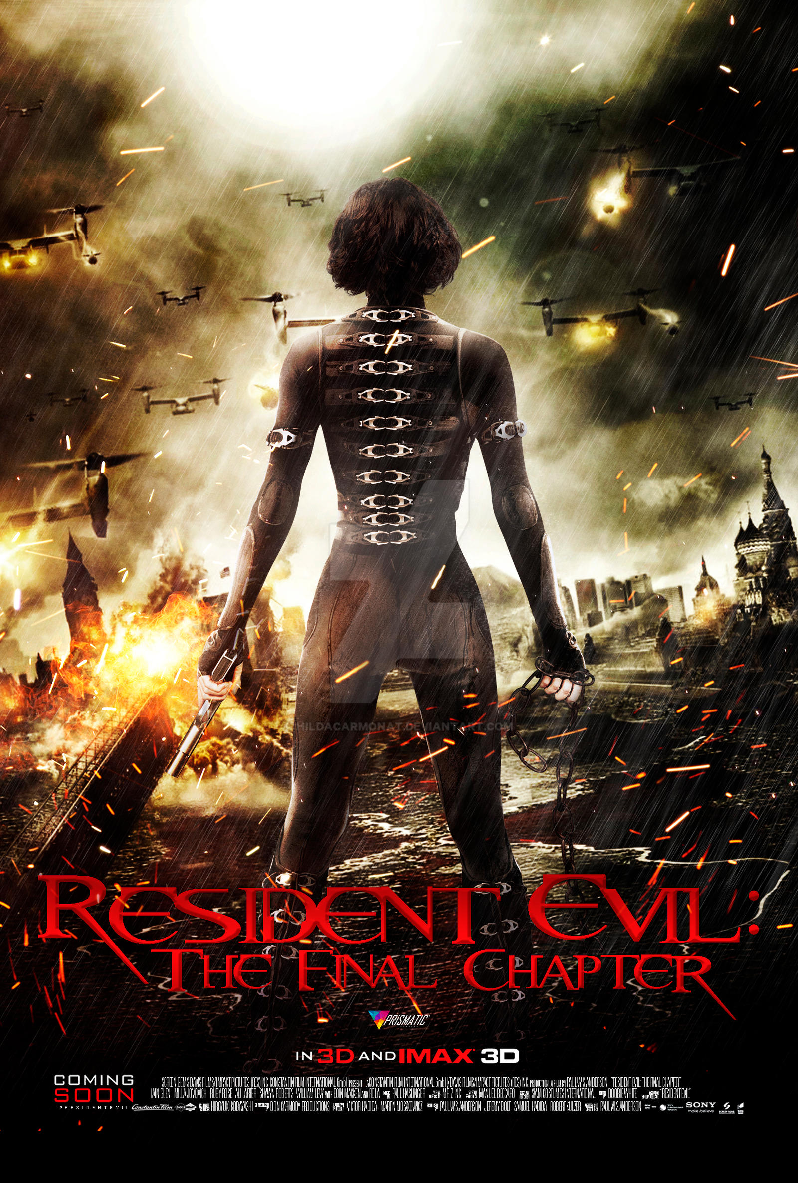 Resident Evil The Final Chapter By Hildacarmonat On Deviantart