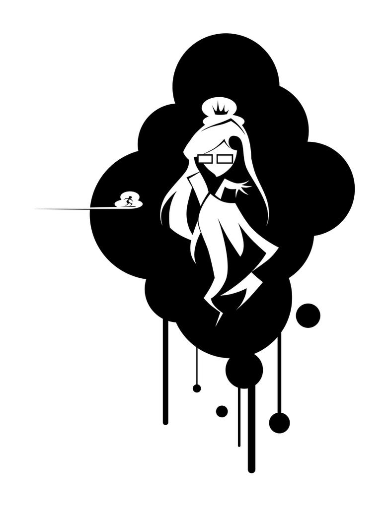 Empress in a cloud by Simokaos