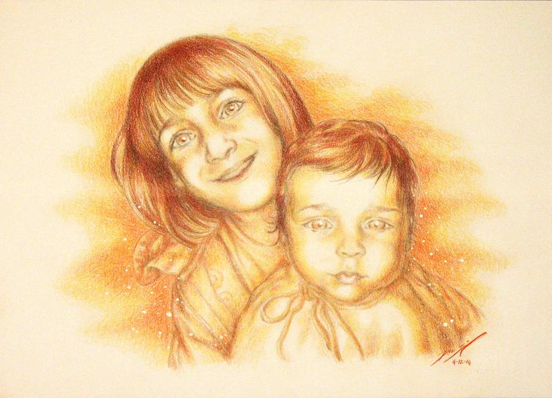 Two smiling by Simokaos