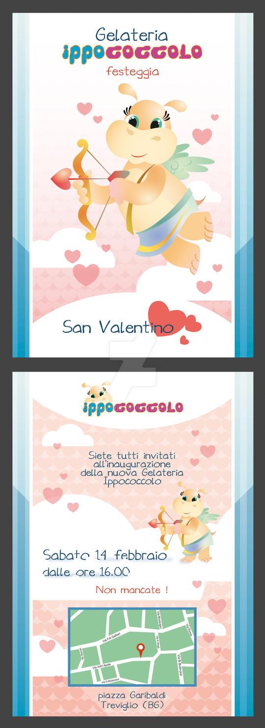 Ippococcolo S.Valentino - flyer by Simokaos