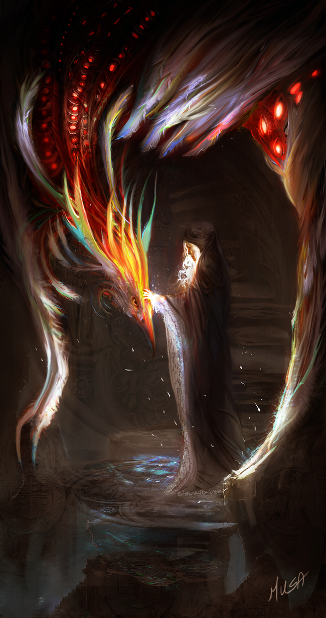 Priestess of the phoenix by Musa