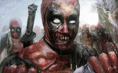 Deadpool zombies ( fan art )