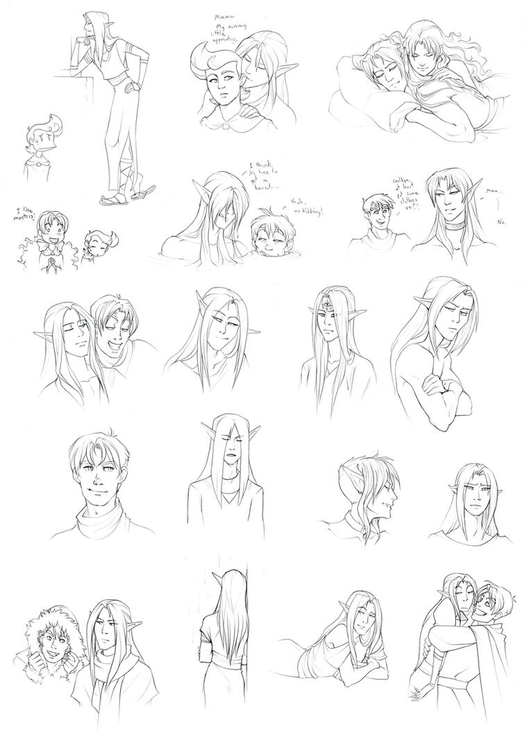 Sketches--Mostly Ghaleon by we-were-in-love