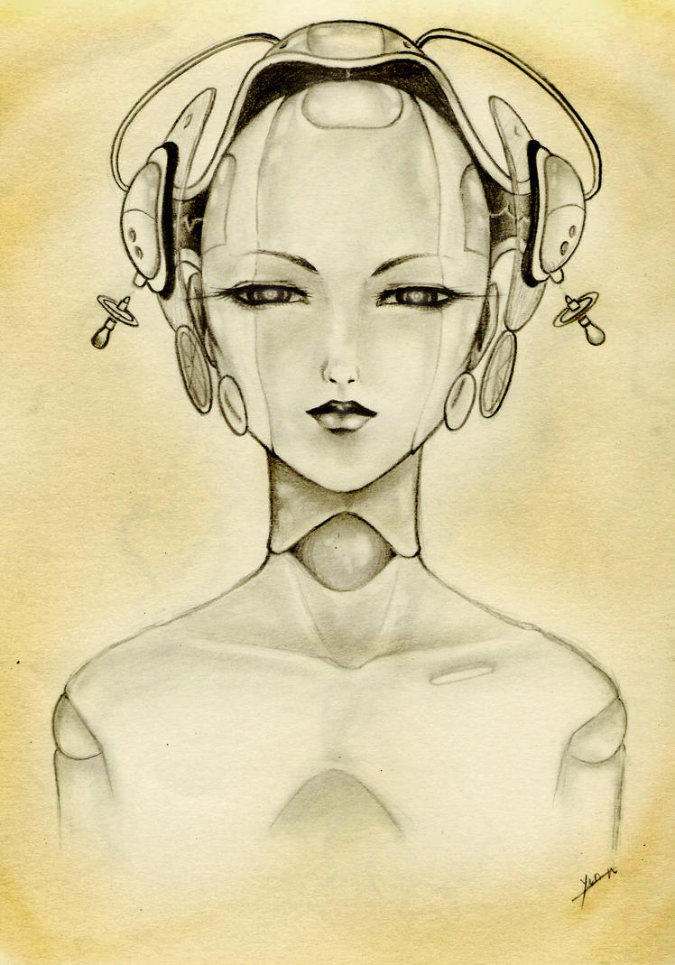 Robot Girl   Pencil by...