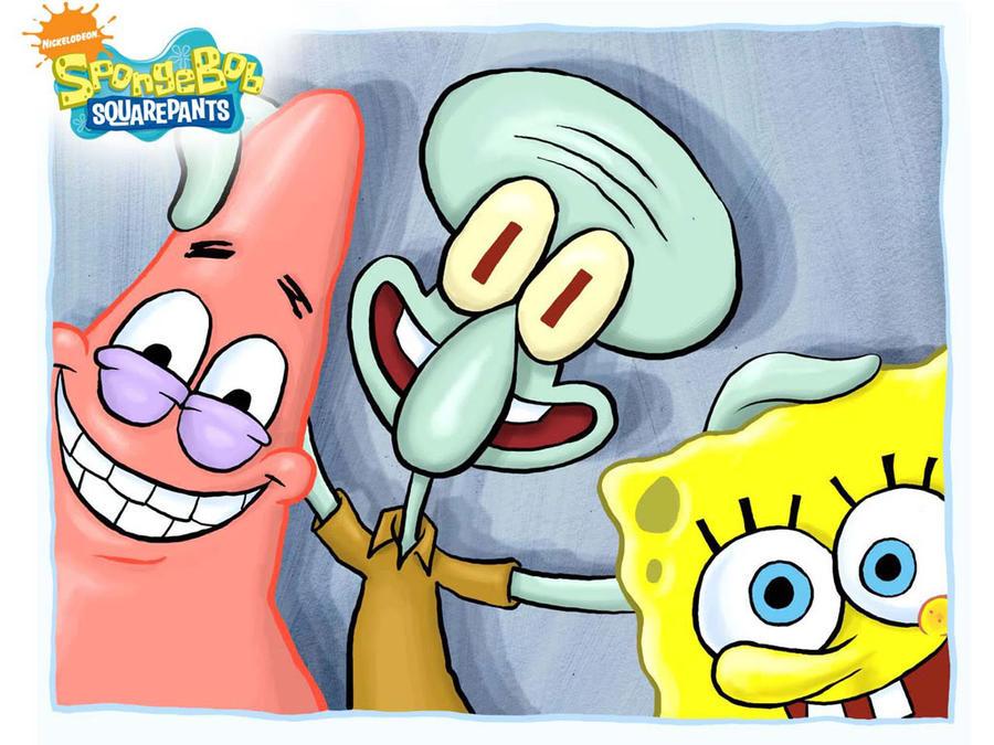 Spongebob Squarepants Squidward Happy