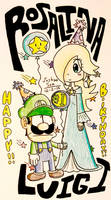Birthday Month #3: ROSALINA AND LUIGI