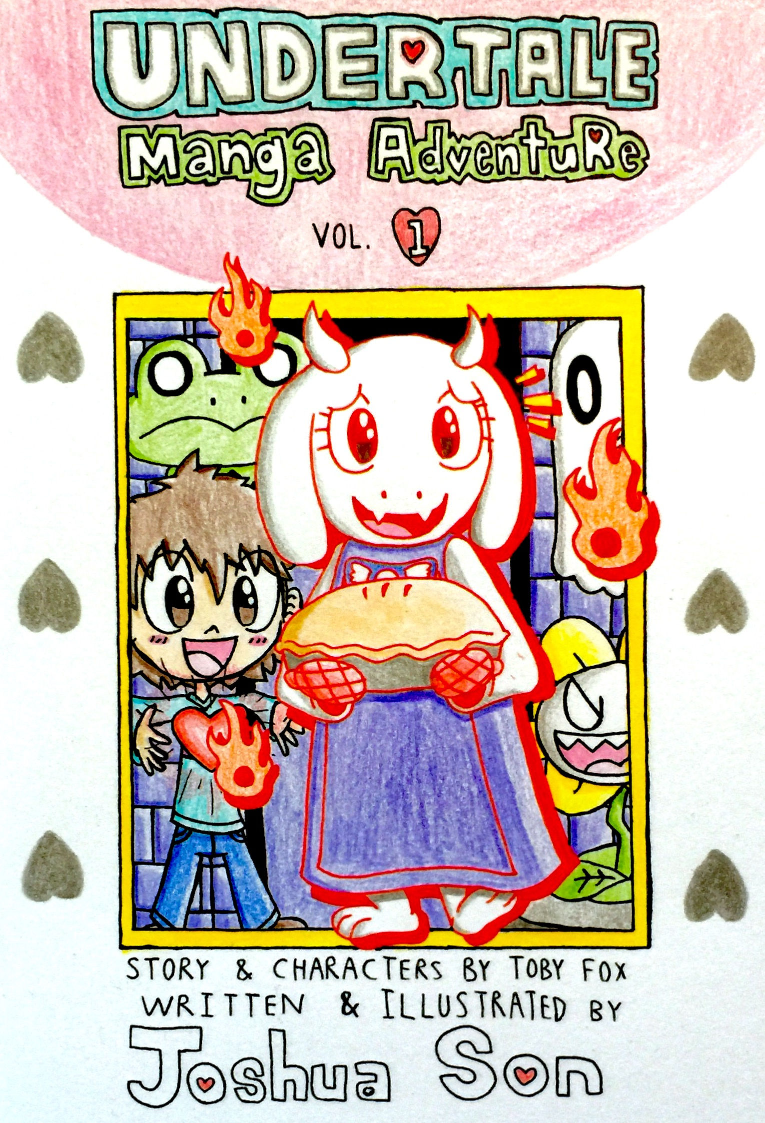 Undertale Manga Adventure Vol 1 Cover Page by Josh-S26 on DeviantArt