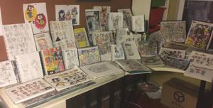 2-Years worth of sketchbooks