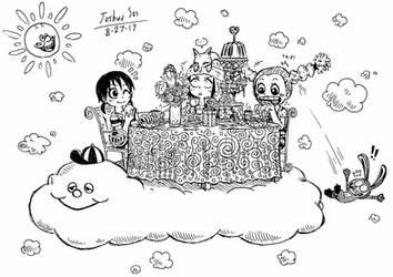 .:Doodle Request:. Sky Tea Party by Josh-S26