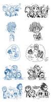 .:My Hero Academia:. Some Redraws