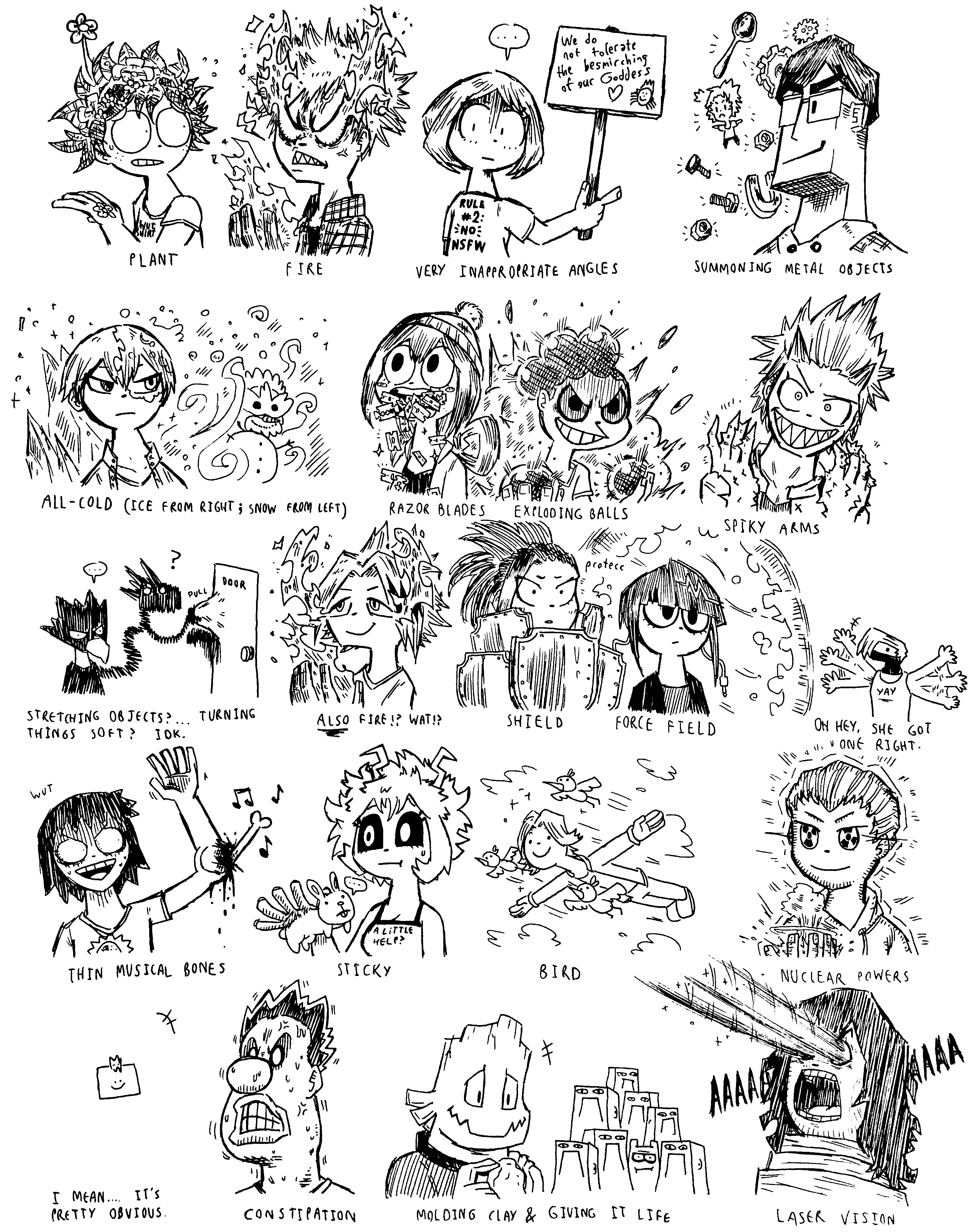 So I had my teacher guess the quirks of Class 1-A by Josh-S26 on