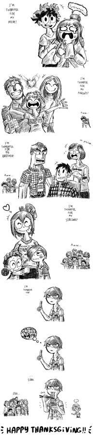 What are you thankful for? (Dekusquad comic)