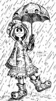 Froppy in the Rain